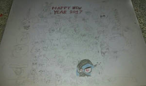 Happy New Year's 2017 (non-colored) by OOJW801