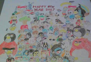 Happy New Year 2017 (colored) by OOJW801