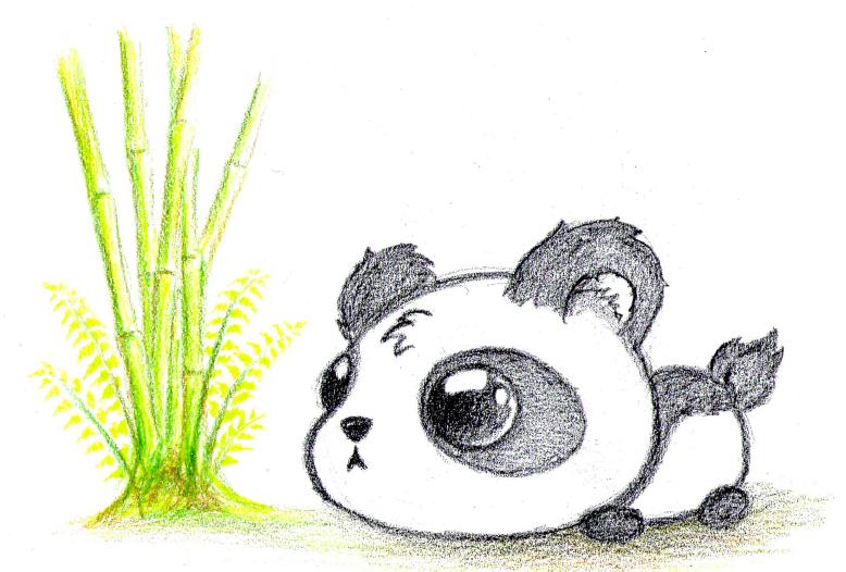 Cute panda baby drawing - photo#2
