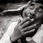 retrato fumando