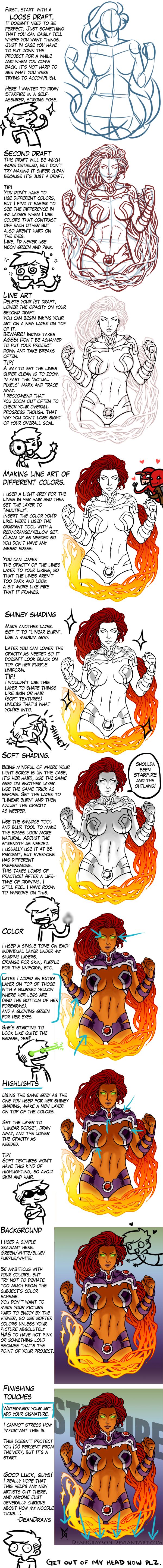 Starfire step by step by DeanGrayson