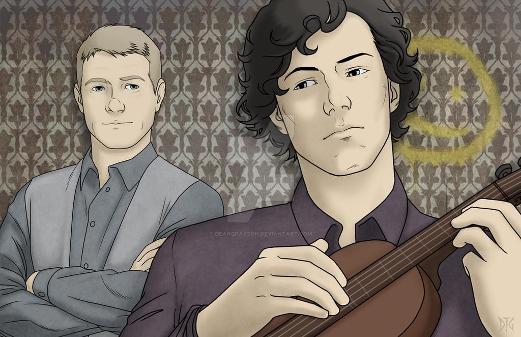 Watson and Sherlock by DeanGrayson
