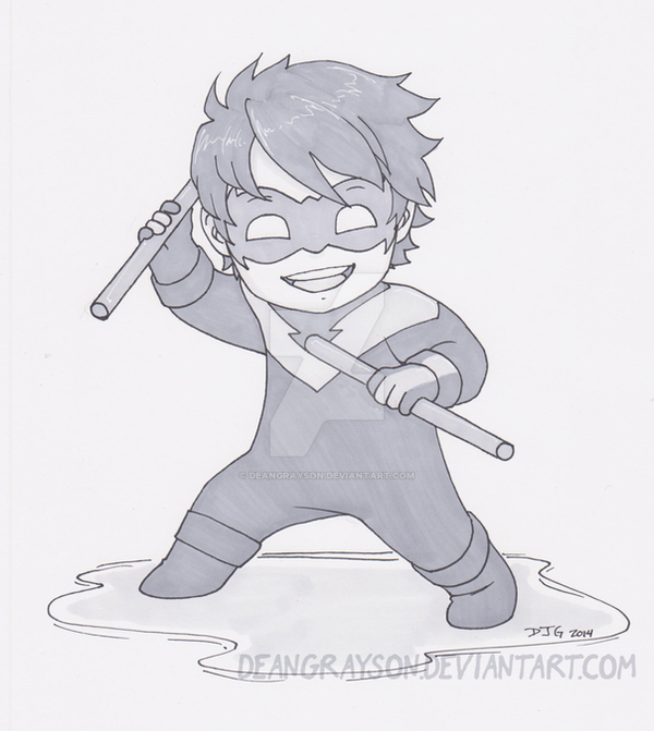 Nightwing chibi commission by DeanGrayson