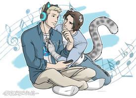 Steve and Leopard!Bucky by DeanGrayson