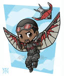 Commission - Falcon and Redwing chibies