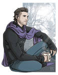 Commission - Nyx and his sweater by DeanGrayson