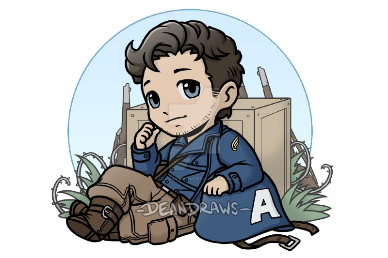 Commission - WWII First Avenger Bucky chibi by DeanGrayson on DeviantArt