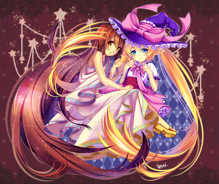 Art-trade: JiruChi and Iris by KenPan