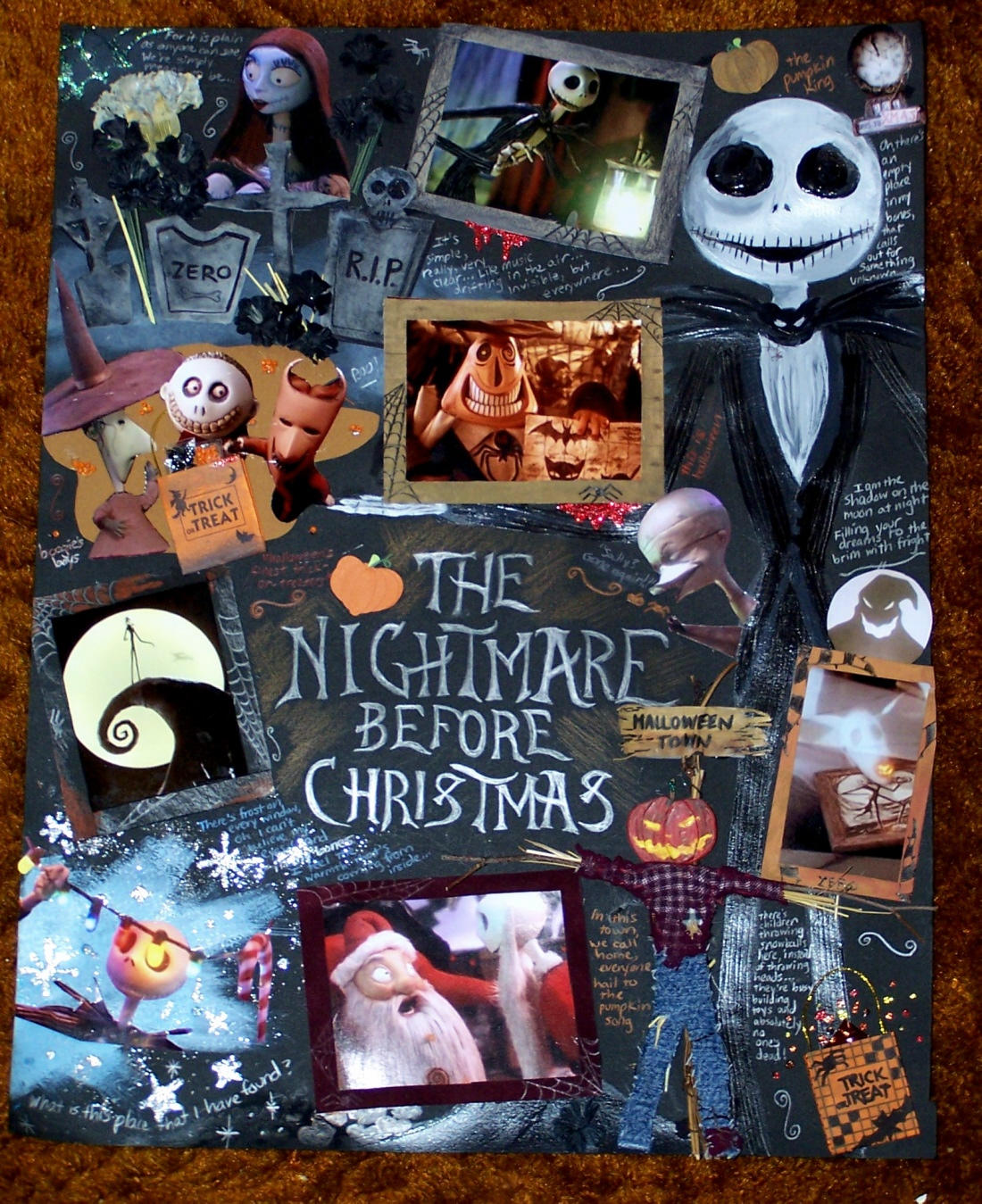 Pin Nightmare Before Christmas Wrapping Paper Images to Pinterest