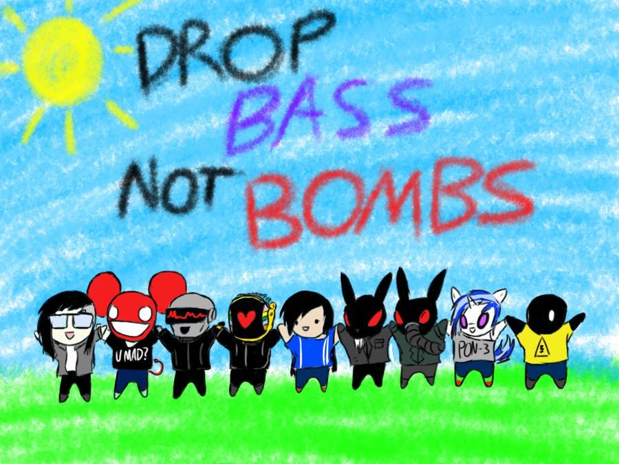 Drop Bass Not Bombs by ZekroRaptor