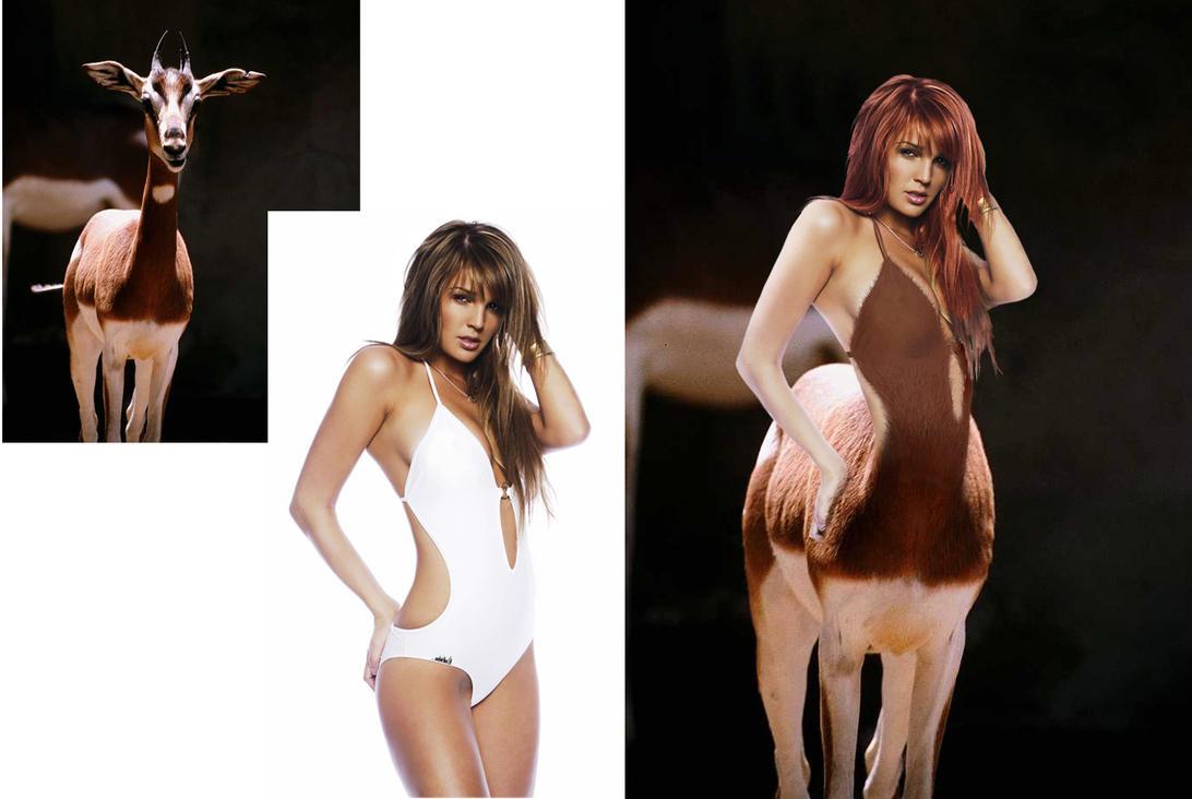 Centaur girl nude image