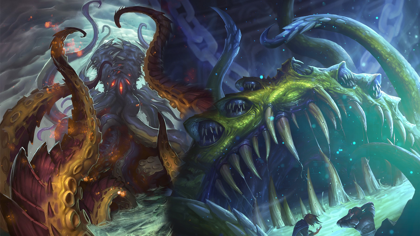 N'Zoth and Yogg'Saron Wallpaper by Maiconcrvg on DeviantArt