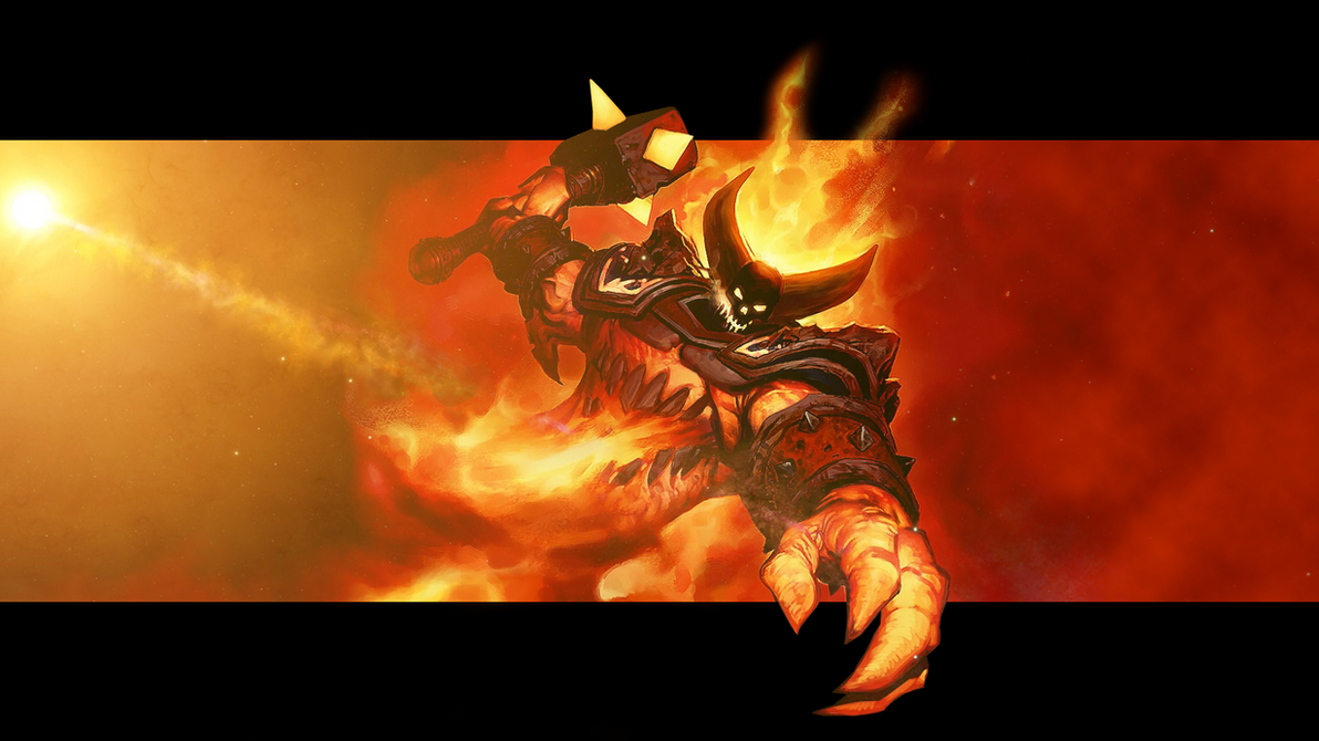 ragnaros, the firelord wallpapermaiconcrvg on deviantart