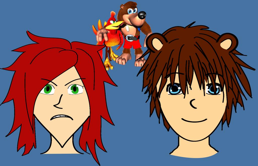 Banjo and Kazooie kemonomimi by ajkcool