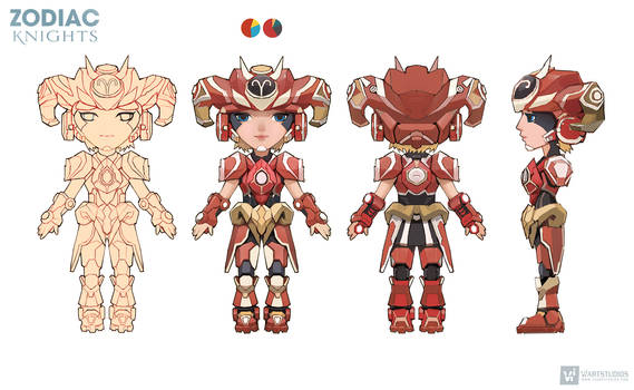 ARIES Concept #1   GameArt #zodiacknights