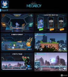Megaboy UI/UX Design   GameArt #megaboy