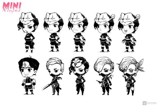 Mini Ninjas | Character Design sheet
