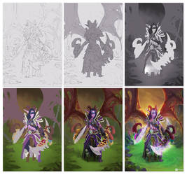 Demon Hunter   WoW fanart #process