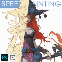 SPEED PAINTING - WITCH [VIDEO]