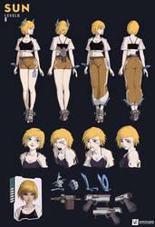 SUN   Character Design sheet
