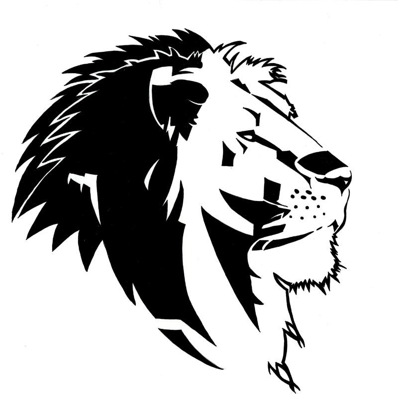 Lion Face Drawing Tribal Lion Face Drawing Trib...
