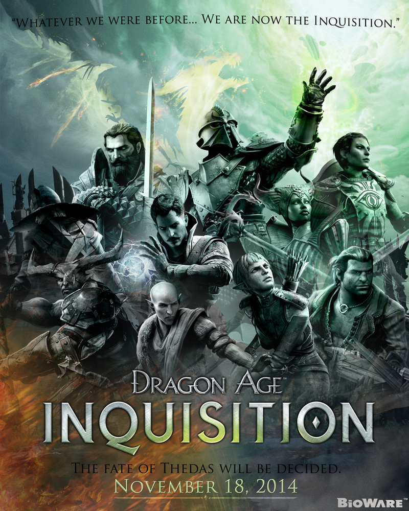 Dragon age inquisition poster by rionafury on deviantart