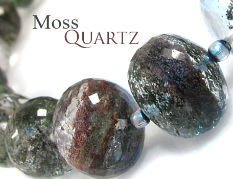 Moss Quartz by BeadsofCambay