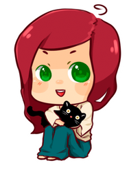 chibi with cat by mei-fei by BambooScent