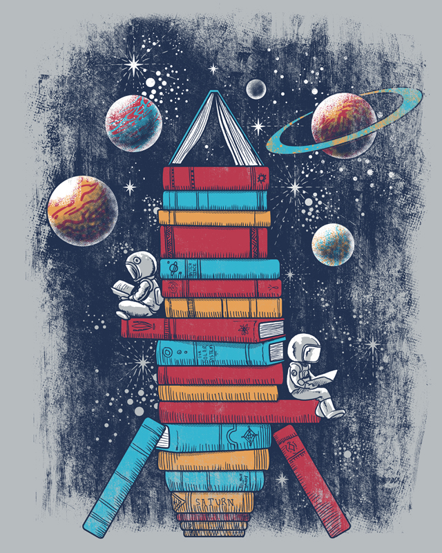 Reading Rocket Ship by qetza