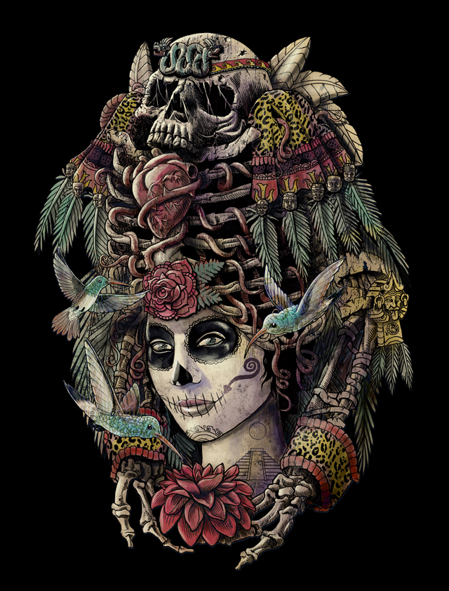 Day of the Dead - Ancient Guardian by qetza