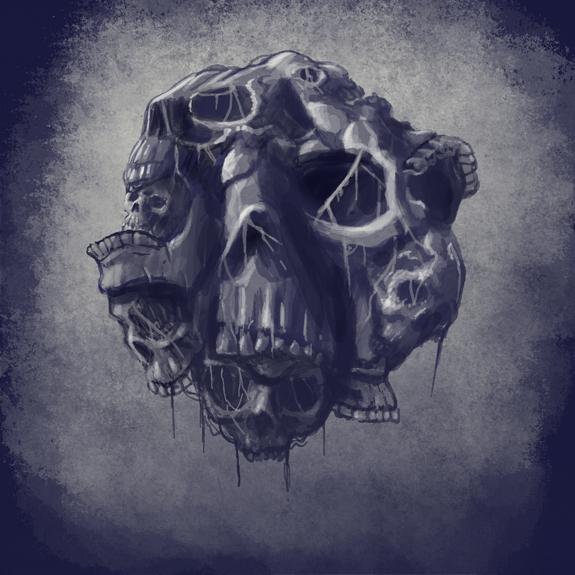 Drawlloween2014 Day 19 Skull by qetza