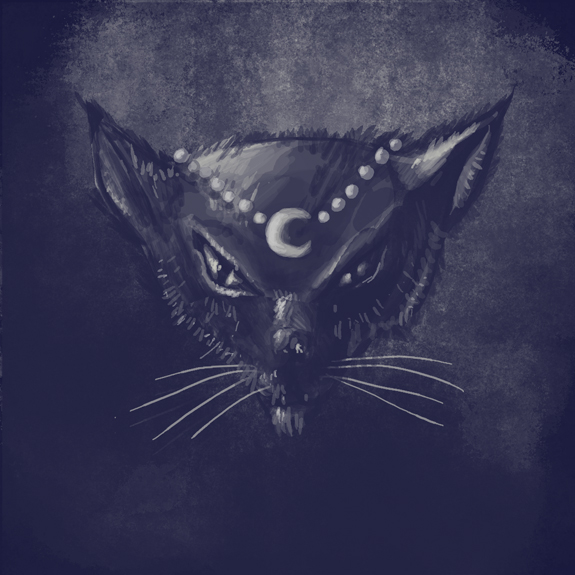 drawlloween2014 day 30 Black Cat by qetza