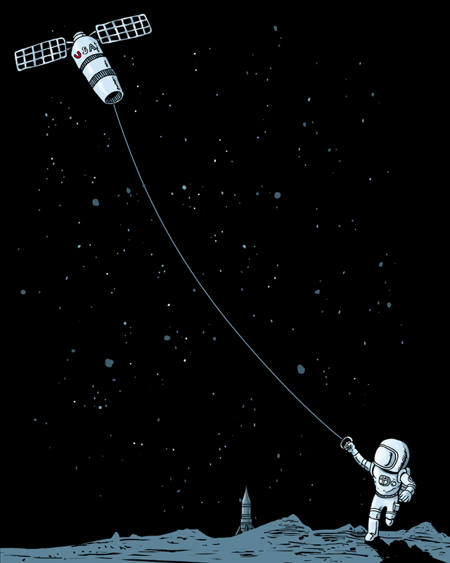 Satellite Kite by qetza