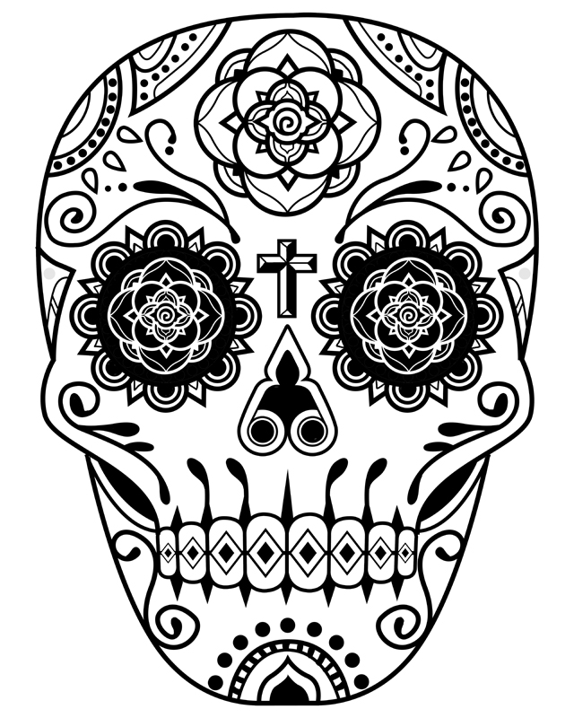 Day of the Dead Deco Skull 2 by qetza