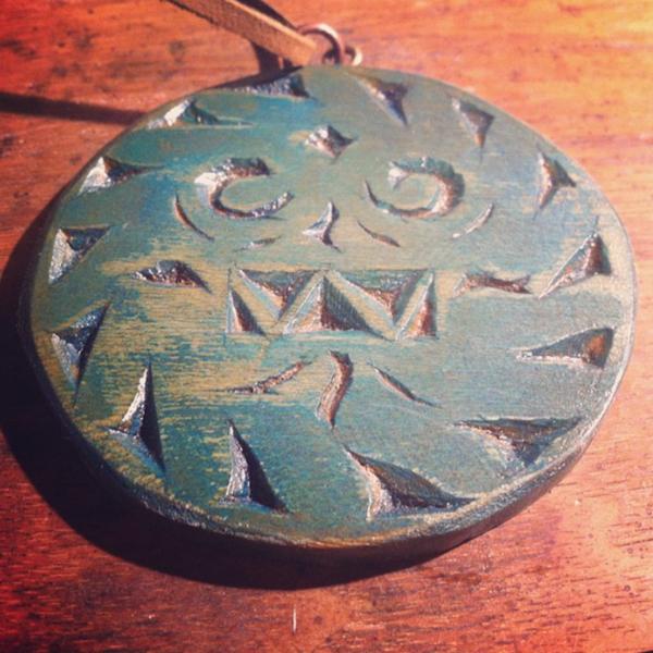 Tlaloc pendant by qetza