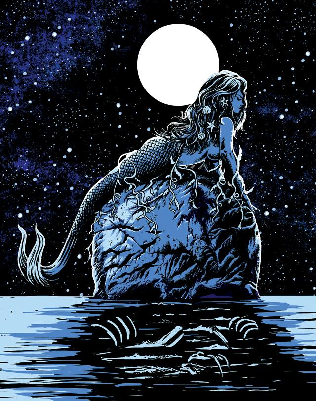 Mermaid Skull by qetza