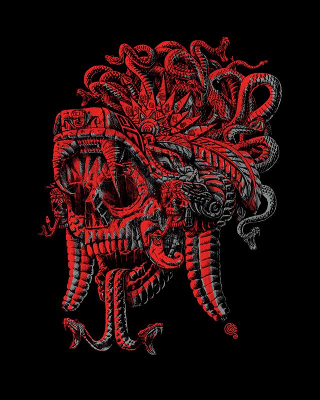 Serpent Warrior t-shirt by qetza