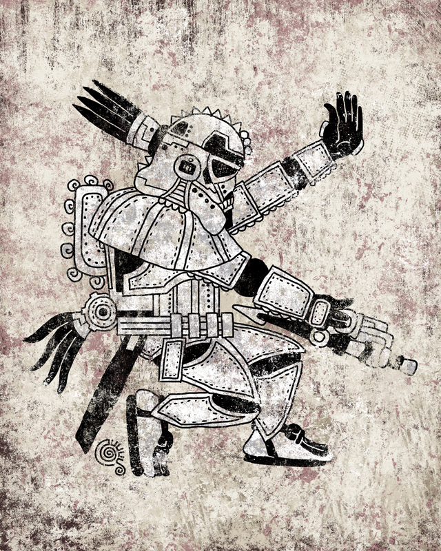 Aztec Storm Trooper by qetza