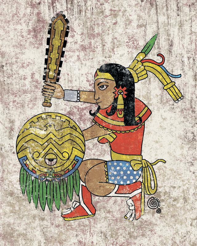 Aztec Wonder Woman by qetza