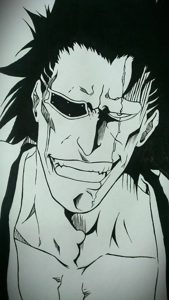Zaraki Kenpachi Drawing By Albert 804
