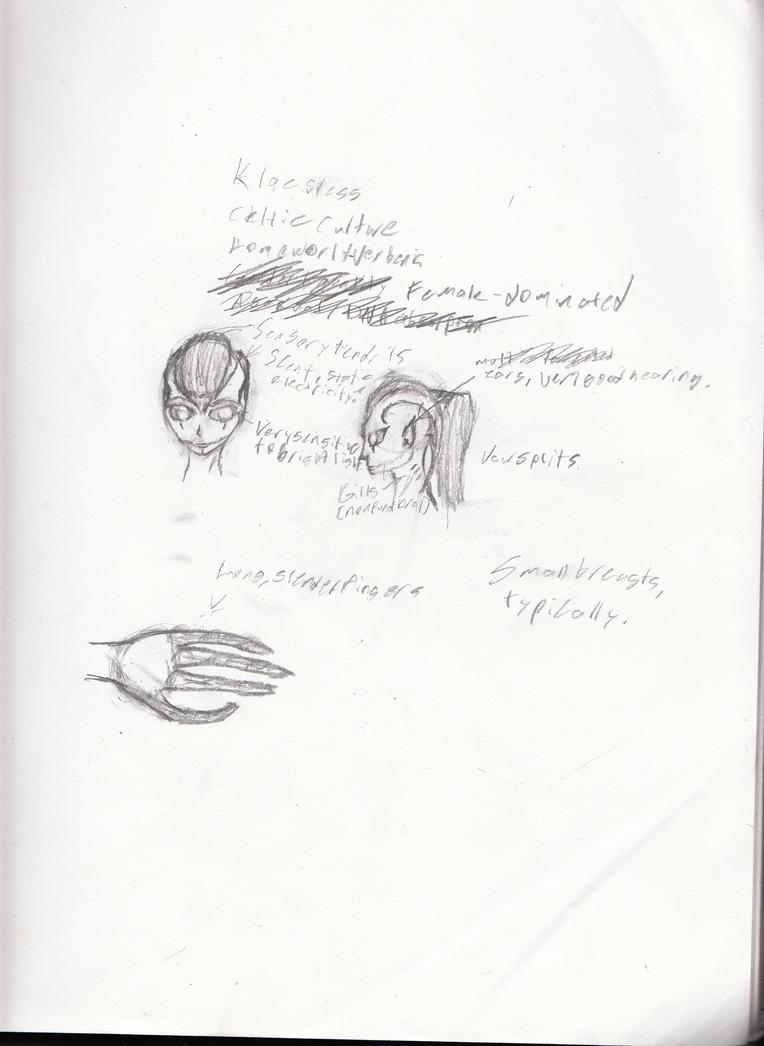 Alien concept scetches by Demonbane775