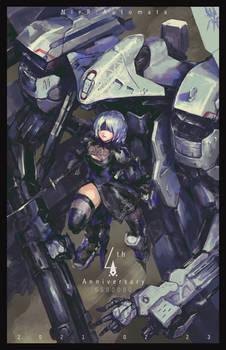 NieR:Automata 4th Anniversary Fan Art