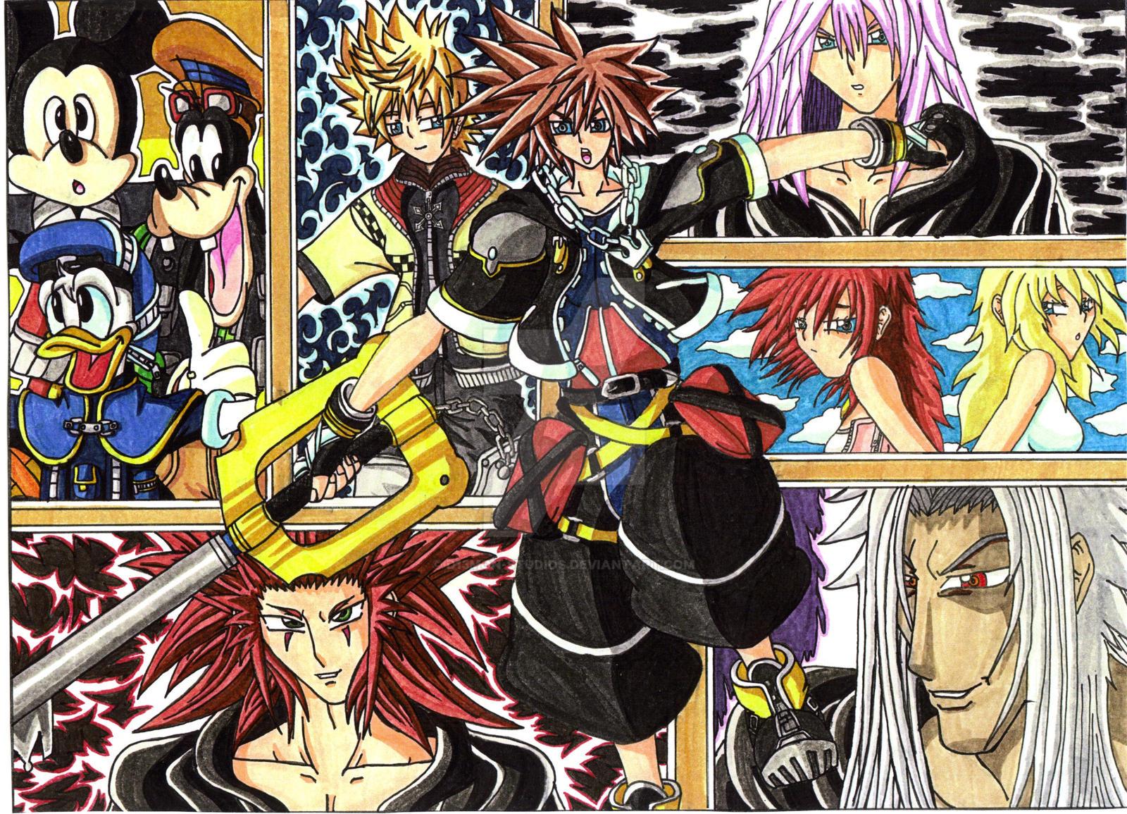 Sora Kingdom Hearts Lineart : Kingdom hearts on anime mangacf deviantart
