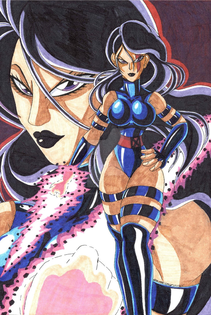 X-Men Psylocke: Birthday Gift by d13mon-studios
