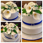 Calla Lily Wedding Cake by EmbracerOfLife