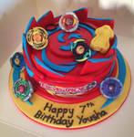 Beyblade Cake by EmbracerOfLife