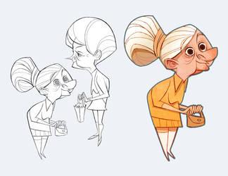 Old Ladies by lemurali