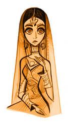 Indian Bride by lemurali