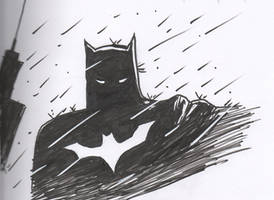 Batman in the Rain Finished