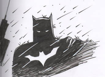 Batman in the Rain Finished by cyxodus